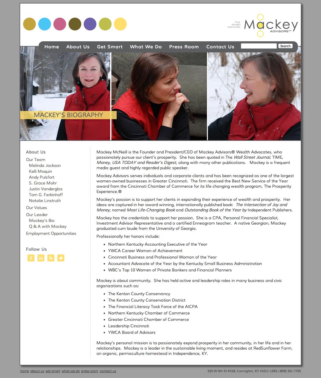 Financial Advisor Website Design Mackey Advisors
